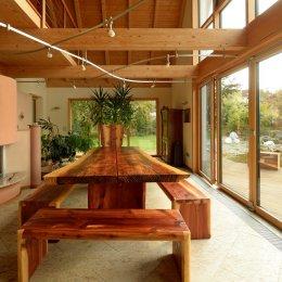 Tischgruppe Mammutbaum