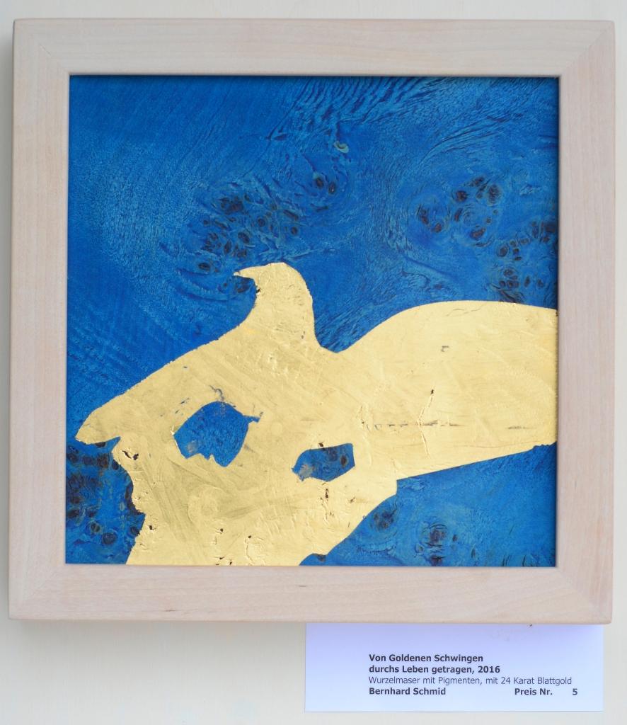 Von Goldenen Schwingen durchs Leben getragen, 2016  ca 30,6 x 30,6 cm