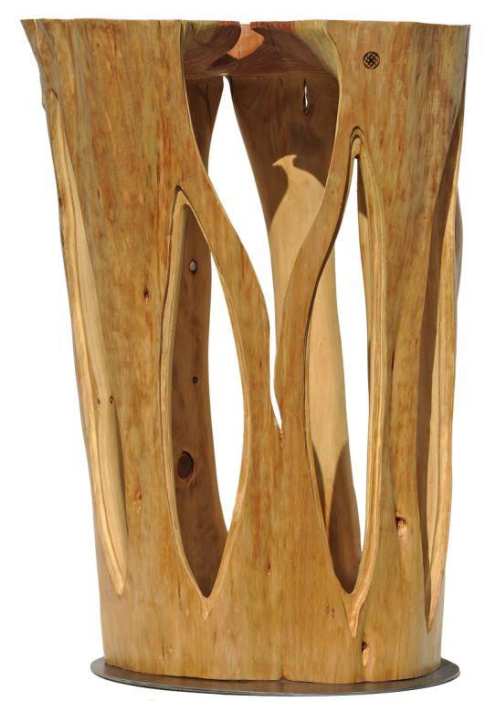 Stehtisch aus einem Mammutbaum aus Pfullendorf, 108 cm hoch